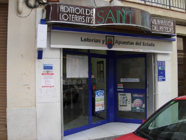 Vendido en Vilafranca Del PenedÈs el segundo premio de La Bonoloto, dotado con 176.000 euros