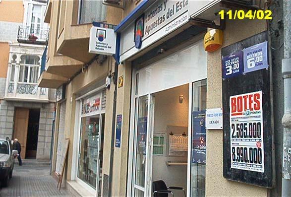 Un boleto de La Bonoloto validado en Murcia resulta agraciado con 55.000 euros