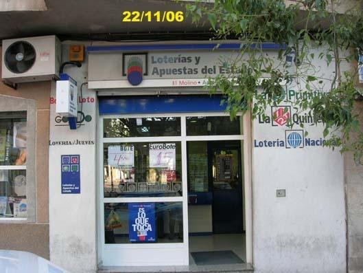 Un acertante de La Bonoloto gana en Molina De Segura 44.000 euros