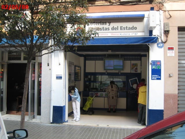 La localidad de Valencia ha sigo agraciada con el segundo premio de La Bonoloto.