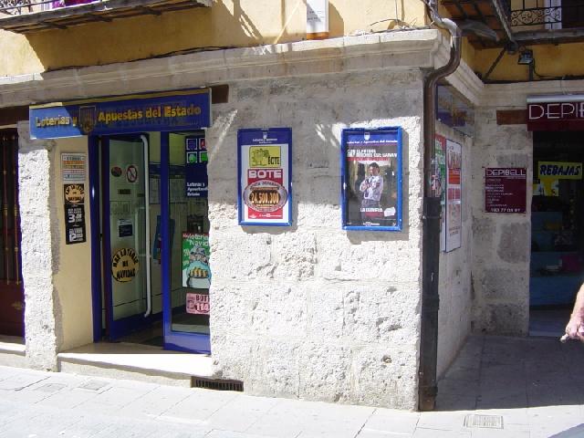 Vendido en Tordesillas el segundo premio de La Bonoloto